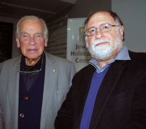 Yoram Gross, pictured with Warren Fineberg, Executive Director of the JHC (used with permission of the Jewish Holocaust Centre)